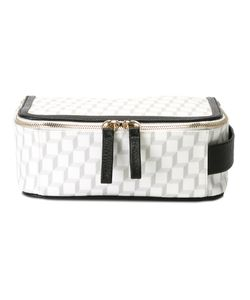 Pierre Hardy | Checked Make Up Bag Canvas/Leather