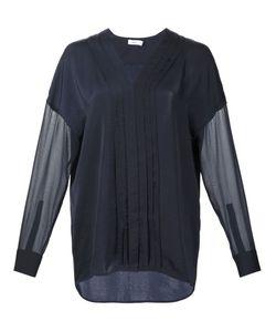 Vince | Прозрачная Блузка С Плиссировкой Спереди