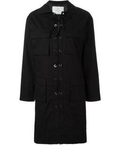 CAROLINARITZ | Платье-Рубашка С Декоративной Шнуровкой