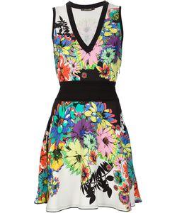 Roberto Cavalli | Расклешенное Платье С Цветочным Принтом