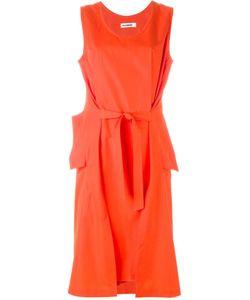 Jil Sander | Платье Со Сборкой Спереди И Поясом