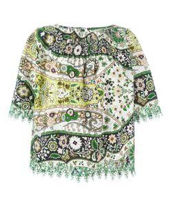 Etro   Блузка С Цветочной Вышивкой