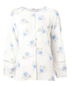 VILSHENKO | Шелковая Блузка С Цветочным Принтом