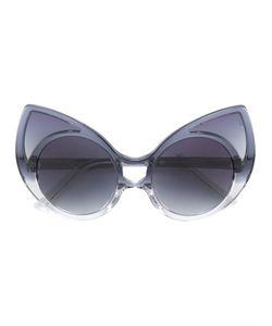 Linda Farrow   Солнцезащитные Очки С Оправой Кошачий Глаз