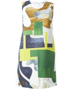 MSGM | Платье С Абстрактным Принтом