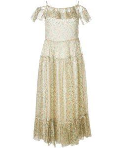 Saint Laurent | Платье С Цветочным Принтом