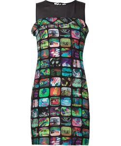 Jeremy Scott | Облегающее Платье С Принтом Телеэкранов