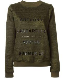 Anthony Vaccarello | Толстовка С Принтом-Логотипом