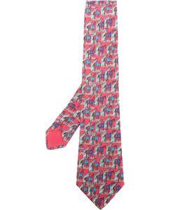 Hermès Vintage | Галстук С Принтом Лошадей