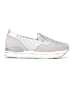 Hogan | Glitter Detail Slip-On Sneakers 40 Leather/Rubber