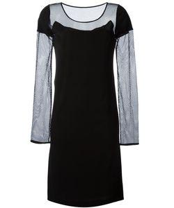 Maison Margiela | Платье С Сетчатыми Рукавами