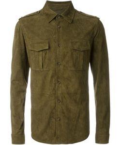 DESA | Замшевая Рубашка В Стиле Милитари
