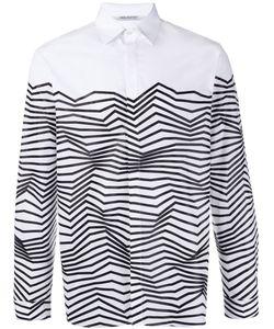 Neil Barrett   Рубашка С Абстрактным Принтом