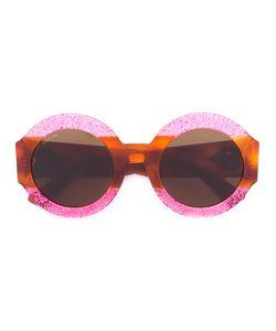Gucci Eyewear | Glitter Tortoiseshell Round Sunglasses Size