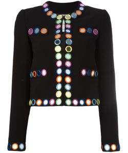 Moschino | Mirror Embroide Jacket 44 Polyester/Triacetate/Rayon