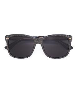 Gucci Eyewear | Square Frame Rhinestone Sunglasses Size Acetate/Swarovski