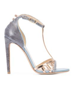 CHLOE GOSSELIN | T-Bar Stiletto Sandals Ayers Snakeskin/Calf