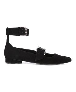Opening Ceremony | Buckled Ankle Ballerinas 37 Leather/Suede