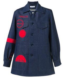 J.W. Anderson   Джинсовое Пальто С Графическим Принтом
