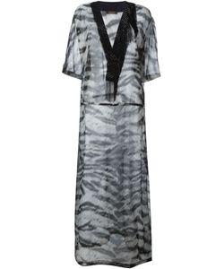 Roberto Cavalli | Прозрачное Платье-Кафтан С Зебровым Принтом