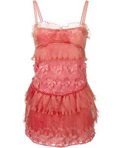 GIAMBA | Платье С Цветочной Аппликацией
