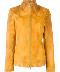 10Sei0Otto | Distressed Zip Jacket