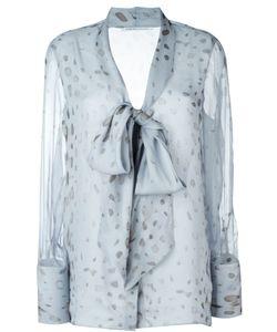 Agnona | Прозрачная Блузка С Бантом