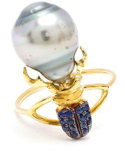 DANIELA VILLEGAS | Sapphire And Pearl Beetle Ring