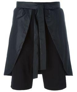 D-GNAK   Overlay Drop Crotch Shorts