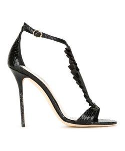 Olgana | Pleat Appliqué Stiletto Sandals