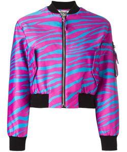 Moschino | Cropped Zebra Print Bomber 40 Polyamide/Rayon/Polyester