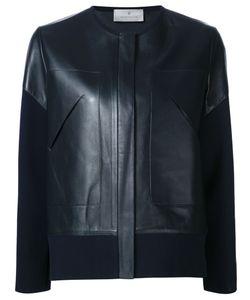 Maison Ullens | Кожаная Куртка С Трикотажными Рукавами