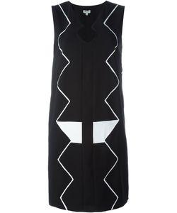 Kenzo | Платье С Зигзагообразной Вышивкой