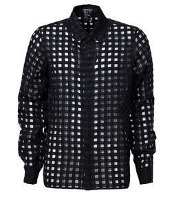 Ann Demeulemeester | Прозрачная Рубашка В Сетку