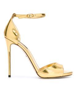 Dolce & Gabbana | Босоножки С Эффектом Металлик