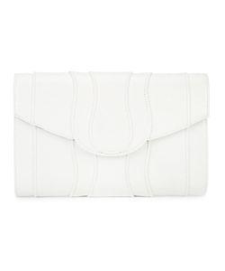 KHIRMA ELIAZOV | Panelled Clutch Bag Watersnake Skin/Suede
