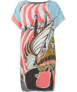 Tsumori Chisato | Платье Шифт С Принтом Корабля