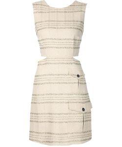 MSGM | Полосатое Платье С Люрексом