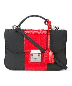 Mark Cross | Panelled Shoulder Bag Women Calf Leather/Python