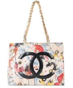 Chanel Vintage | Стеганая Сумка-Тоут С Цепочной Отделкой