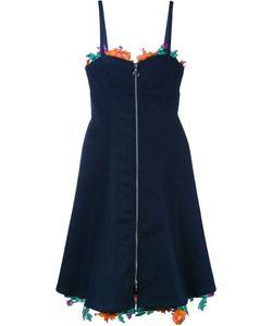ADAM SELMAN | Джинсовое Платье С Цветочной Вышивкой