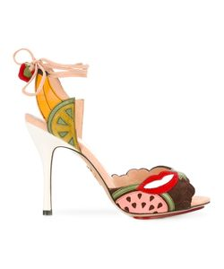 Charlotte Olympia | Fruit Patch Heeled Sandals Size 39
