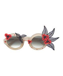 Linda Farrow | Motif Round Sunglasses