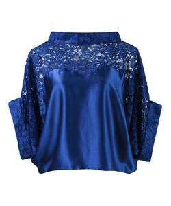 MARTHA MEDEIROS | Lace Panel Crop Blouse
