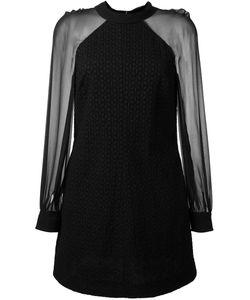 Saint Laurent | Платье С Прозрачными Рукавами