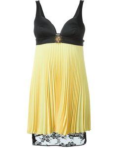 Fausto Puglisi | Плиссированное Платье С Кружевным Подолом