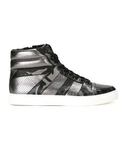LOVELESS | Camouflage Panel Hi-Top Sneakers