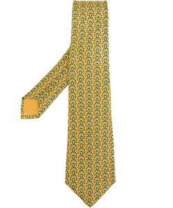 Hermès Vintage | Галстук С Принтом Головного Убора Аборигенов