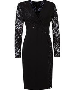 GIULIANA ROMANNO | Приталенное Платье С Кружевной Отделкой