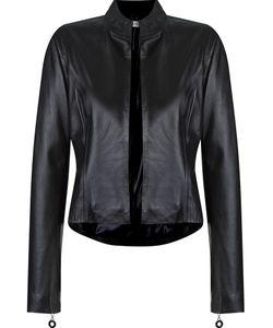 MARTHA MEDEIROS | Open Front Leather Jacket